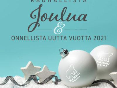 Hyvää joulua ja onnellista uutta vuotta 2021